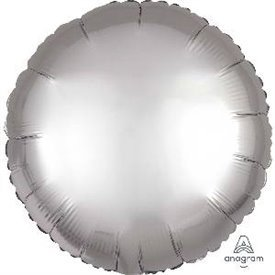 Globo Circulo color satin Plata de 45cm3680501 Anagram