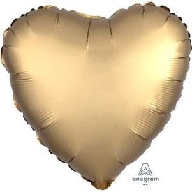 Globo Corazon color satin Dorado de 45cm3680301 Anagram