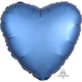 Globo Corazon color satin Azul de 45cm3680901 Anagram