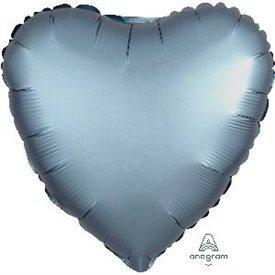 Globo Corazon color satin Azul Acero de 45cm3681401 Anagram