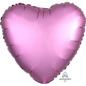 Globo Corazon color satin Rosado Claro de 45cm3682201 Anagram