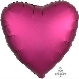Globo Corazon color satin Rosa Profundo de 45cm3682801 Anagram