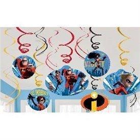 Decoración colgante Los Increibles (6x2) 671907 Amscan