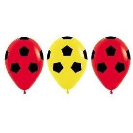 Globos Serigrafiado Balón De 30 cm aprox Color Rojo y Amarillo Solido (12 ud)