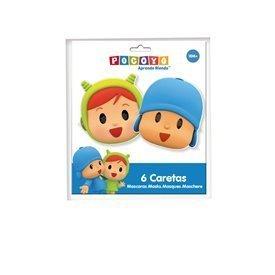 Mascaras Pocoyo y Nina (6 ud)16001515 Verbetena