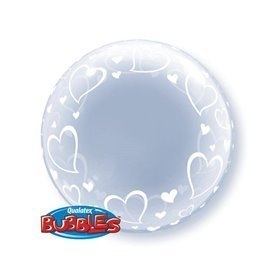 Globo Corazones Burbuja BubbleQL-29505 Qualatex