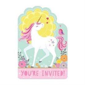 Invitaciones Unicornio Magico (8)491929 Amscan