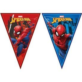 Banderin Triangulos Spiderman Team de 2.3m