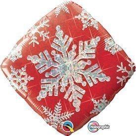 Globo Foil Copo de Nieve rojo de 46cm