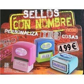 """Sello con Nombre """"LOCO POR EL FÚTBOL"""""""