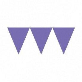 Banderines Triangulos Color Morado (4,5 m aprox)