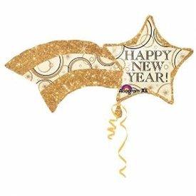 Globo foil forma Estrella Happy New Year de 68cm
