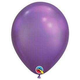 "Globos CHROME QUALATEX Purple de 11""- 28cm (25)QL-58280 Qualatex"