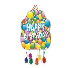 Piñata Happy Birthday Globos de 46cm16001223 Verbetena