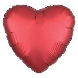Globo Corazon color satin Sangria de 45cm3858401