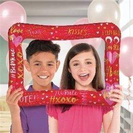 Globo foil forma marco selfie San Valentin