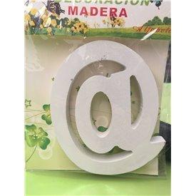Letra @ de Madera de 11 cm AproxMad-Letra@ Varios