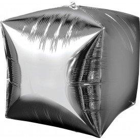 Globo Forma Cubo de 38 cm aprox Color PLATA2833599 Anagram