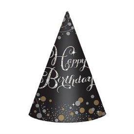 Gorros cono Happy Birthday (8)250772 Amscan