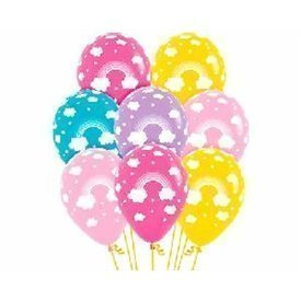 Globos latex Arco Iris en colores surtidos (12)
