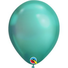 "Globos CHROME QUALATEX Green de 11""- 28cm (100)QL-58273 Qualatex"