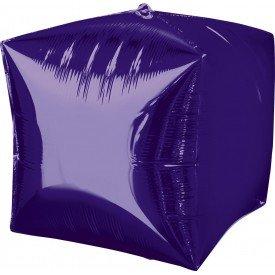 Globo Forma Cubo de 38 cm aprox Color MORADO2839099 Anagram