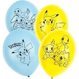 Globos latex Pokemon (6)9904826 Amscan