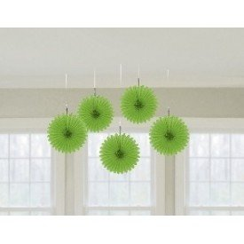 Farolillos Abanico color Verde (5 de 15,2 cm)29055-53 Amscan
