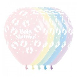 Globos latex Baby Shower colores pastel (12)