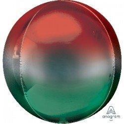 Globo Forma Esfera de 40 cm Color Rojo y Verde4021401 Anagram