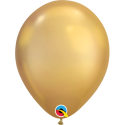 "Globos CHROME QUALATEX Gold de 11""- 28cm (25)QL-58277 Qualatex"