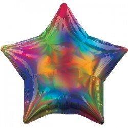 Globo Estrella Multicolor Irisdiscente de 45cm
