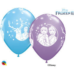 Globos Látex Frozen II (6)QL-99713 Qualatex