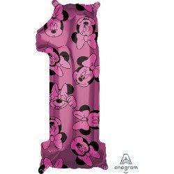 Globo Minnie Número 1 de 65 cm