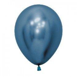 Globos látex Reflex Azul de 30cm (50 ud)