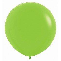 Globos Color Verde Neón R24 de 60cm aprox. (10 UD)