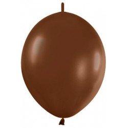 Globos (LOLR12) de 30cm aprx Esp. Arcos y TorresColor Chocolate Solido (25 ud)