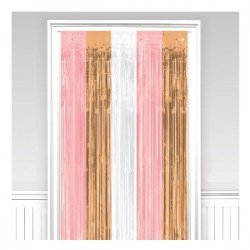 Decoracion Cortina Puerta Color Rosa, Dorado y Blanco242679 Amscan