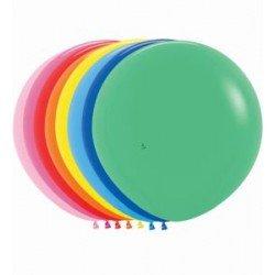 Globos Colores Surtidos solidos R24 de 60cm aprox. (10 UD)