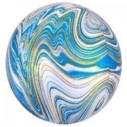 Globo Orbz Marblez Azúl de 40cm4139401 Anagram