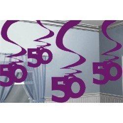 Decoracion Colgantes 50 Cumpleaños Rosa (5)992373 Amscan