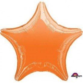 Globo Con Forma de Estrella de Aprox 47cm Color NARANJA -