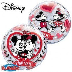 Globo Bubble Mickey y Minnie EnamoradosQL-21892 Qualatex