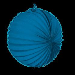 Farolillo de papel color Azul Claro de 22 cm.