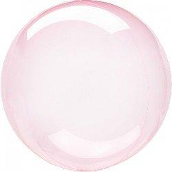 Globo burbuja transparente Rosa fuerte de 45 cm