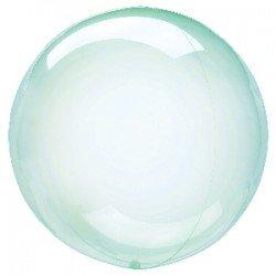 Globo burbuja transparente Verde de 45 cm