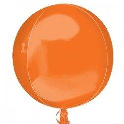 Globo Orbz Naranja metalizado de 40cm