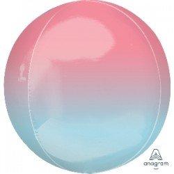 Globo Orbz fusion rosa y azul pastel de 40cm