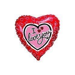 """Globo corazón """"I Love you"""" corazoncitos de 45 cm aprox"""