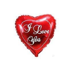 "Globo Corazón rojo I LOVE YOU de 78cm últra 32"""